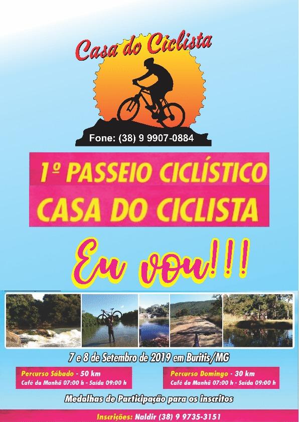 1° Passeio Ciclístico Casa do Ciclista - Buritis MG